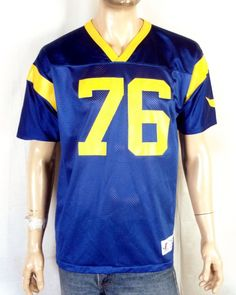 f819b1aeb5 vtg 90s euc Logo Athletic St. Louis LA Rams Orlando Pace NFL Jersey HOF  youth XL