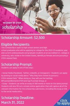 The Prysmian Group Women in STEM Scholarship supports female STEM students in their higher education journey. Stem Students, College Students, High School Seniors, University, How To Apply, Social Media, Higher Education, Prompts, Journey