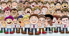 Vector Manga Avatar Faces... very useful... free download at Pixeden.com