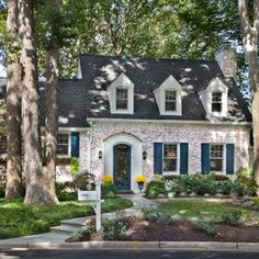 quinitssential, the tall trees, mailbox, shutters, brickwork, dormers, landscaping, treestreestrees, disney