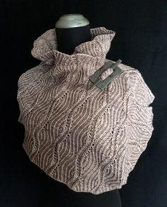 Topography Cowl pattern by Jennifer Kirchenbauer | malabrigo rios in Sand Bank