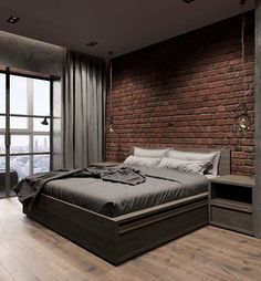 35 Gorgeous Bedrooms That'll Inspire You to Redecorate 25 - Home Design Minimalist Bedroom, Modern Bedroom, Bedroom Small, Bedroom Boys, Master Bedroom, Design Your Own Bedroom, False Ceiling Bedroom, Industrial Bedroom, Suites