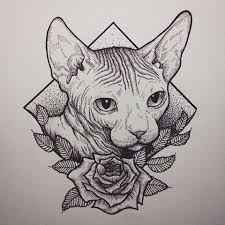 Resultado de imagen para sphynx cat draw