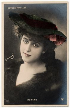 Gabrielle Robinne  * July 1st 1886, Montluçon (France) † December 18th 1980, Saint-Cloud (France)  Gabrielle (Anna Charlotte) Robinne was an actress on stage and at the movies.