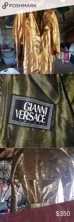 versace leather trench coat Small leather trench coat with belt Gianni Versace Versace Jackets & Coats Trench Coats