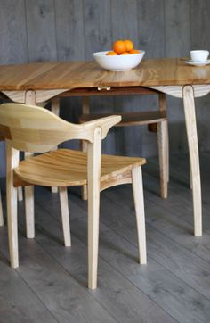 Valentine Extending Table And Chairs Made Form Olive English Ash Designed  And Made By Lee Sinclair