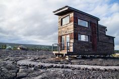 Hawaii is known for its beaches and volcanoes and the Volcano Mini House puts you right in the middle of both. Situate at the base of the world's most active volcano, the tiny home sits on a foundation of blackened...
