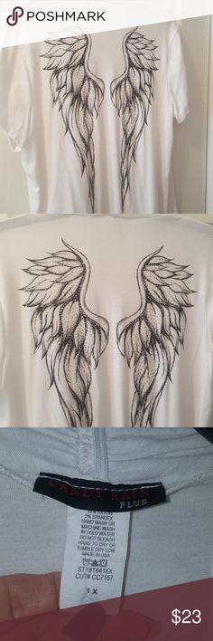 Angel Wing Cardigan- Swimsuit Cover Up This is a beautiful piece to add to any closet💖 Size is 1X but can be from Med- 1X,just depends on how you like to wear these flowy,draped cardigans😉 All bling is intact on the Angel Wings & no stains or rates. If you have any questions please comment below as I usually respond within 24 hrs or less 😉 Thanks for looking & Feel free to stop by my closet anytime as items are added weekly 💟 HAPPY POSHING!!!🌻🌻🌻 Candy Rain Tops