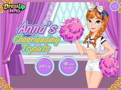 Anna chce spróbować swoich sił jako cheerleaderka. Pomóż jej stworzyć piękny strój i rozpocząć przygotowania! http://www.ubieranki.eu/ubieranki/9719/anna-_-trening-cheerleaderki.html