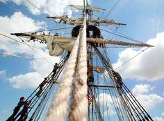 Furling the sails!
