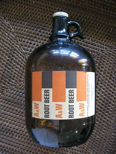 A & W Root Beer Vintage Bottle