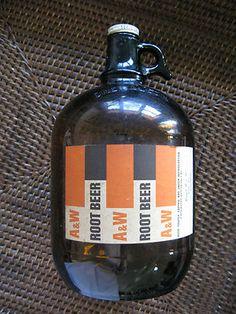 A & W Root Beer Vintage Bottle