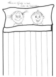 Hans en grietje onder de lapjes deken, vlechten