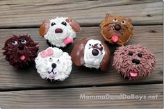 CUTEST cupcakes ever!!! Puppy Dog Cupcakes MommaDandDaBoyz.net
