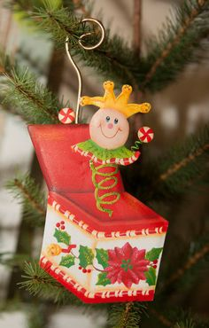 Candy Land Jack in the Box Ornament - The Round Top Collection C8017