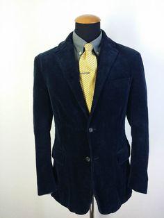 Kaiser Design Mens Jacket 40S Short Blazer Yellow Check Plaid gr ...