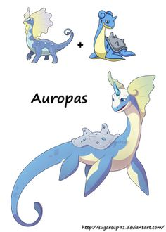 Lapras was always my favorite to use when playing pokemon on my nintendo So felt like i had to draw it in a fusion Auropas Pokemon Mew, Fan Art Pokemon, Pokemon Fusion Art, Pokemon Comics, Pokemon Fake, Nouveau Pokemon, Deviantart Pokemon, Pokemon Breeds, Cool Pokemon Cards