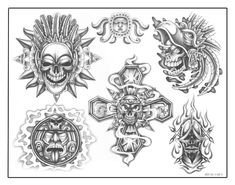 VK is the largest European social network with more than 100 million active users. Flash Art Tattoos, Chicano Art Tattoos, Skull Tattoos, Body Art Tattoos, Tattoo Design Drawings, My Drawings, Tatto Maya, Tatuagem Azteca, Ozzy Tattoo
