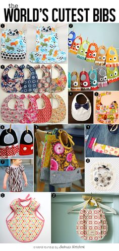 12 of the cutest bib tutorials ever - Andrea's Notebook