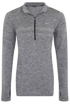 Nike Dri-Fit Knit Half Zip Womens Long Sleeve Running Top at Amazon Women's Clothing store: