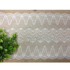 8-1/2' wide stretch polyester lace trims garment skirt clothes material DIY craft supply fashion accessory by 1 yard -- For more information, visit image link.