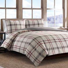 Portage Bay Plaid Duvet Cover And Sham Set (Full/Queen) Silver - Eddie Bauer Plaid Comforter, Ruffle Bedding, Comforter Sets, Queen Bedding, King Comforter, Grey Duvet, Red Bedding, Eddie Bauer, Bedrooms
