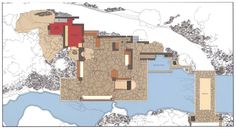 Representación de arquitectura    Fallingwater House / Frank Lloyd Wright
