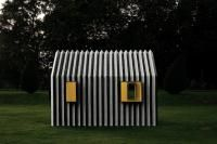 Built by White Arkitekter in , Sweden with date Images by Rasmus Norlander. Mattias Lind, architect and partner at Scandinavian White arkitekter, has designed a house made entirely of paper – C. Cabinet D Architecture, Interior Architecture, Origami Architecture, Temporary Architecture, Small Buildings, House Made, Dezeen, Chameleon, Color Change