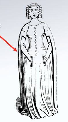middle gothic cotehardie with tippets - Google 搜索