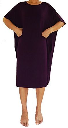 Lovely Creations Women's Plus Size Span Kimono Sleeves Loose Fit Mid Long Dress Boat neck Midi Dress Size L to 5X (DL Purple). This ultra soft loose fit tank top is made with high-quality material of RAYON and SPADEX very stretchy. Hand wash, cold water, hang to dry, wash with like colors and wash dark colour separately. Boat neck, short sleeve, wide hem. Loose design, midi dress, casual wear. Color Disclaimer: Due to monitor settings, monitor pixel definitions, we cannot guarantee that the…