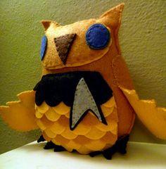 Star Trek Captain Kirk Inspired Owl Plush by CharacterCove on Etsy