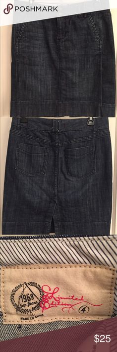GAP Denim Pencil Skirt Classic denim pencil skirt. Can be dressed up or down. In great used condition. No trades/PayPal. Smoke free home. GAP Skirts Pencil