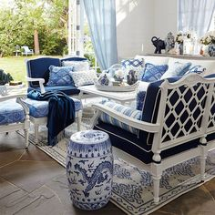 Cool, crisp and classic. Click to see why we just can't get enough of blue.