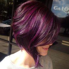 Purple bob haircut. Love the colour! www.thailandlifestyleproperties.com