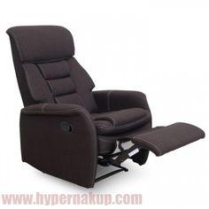 Polohovateľné relaxačné kreslo,  Prevedenie: látka čokoládová hnedá,  Rozmery (ŠxHxV): 72x87x106 cm,  Výška sedenia: 49 cm.  Nosnosť 150 kg.  Hmotnosť: 33 kg  Relaxačné