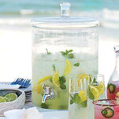 Limoncello Mojito With Fresh Lemon Juice, Sugar, Mint Leaves, Limoncello, Club Soda, Mint Leaves, Lemon