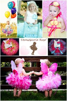Baby Girls Birthday Tutu Dress Outfit Posh by StrawberrieRose