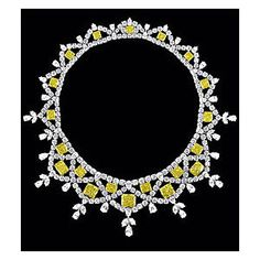 Yellow and white diamond necklace by graff