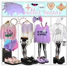 """""""How to Wear: Pastel Gothic"""" by emogirl2013 on Polyvore"""