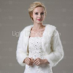 Wedding / Party/Evening / Casual Faux Fur Shrugs 3/4-Length Sleeve Fur Coats - USD $18.99