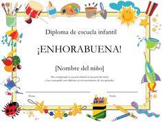 ¡ENHORABUENA!<br />[Nombre del niño]<br />Has completado la escuela infantil en [escuela del niño]<br />y has conseguido e...