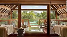 Four Seasons Bora Bora - Kahaia suite -- with its outdoor terrace, soaking bath and views over Mount Otemanu -- is hard to beat.