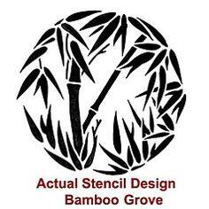 stencil bamboo - Google Search