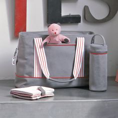striped diaper bag...i like how it's not too girly