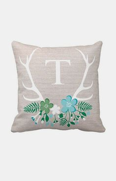 Antlers Personalized Pillow