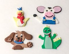 Items similar to Set 4 Animals Dog Cow Crocodile Chicken Cake Toppers on Etsy Chicken Cake, Fondant Cake Toppers, Animals Dog, Crocodile, Pet Dogs, Cow, Handmade Gifts, Etsy, Kid Craft Gifts