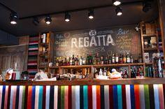 Ресторан Regatta, counter stripes