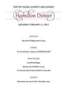 Best dinner options before hamilton