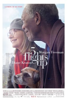 "Awww. This is a great movie poster, which has a good, contemporary plot. ""Five Flights Up"", starring Morgan Freeman and Diane Keaton, opens in May 2015."