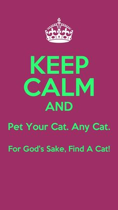 Keep calm and pet your cat. Abraham-Hicks